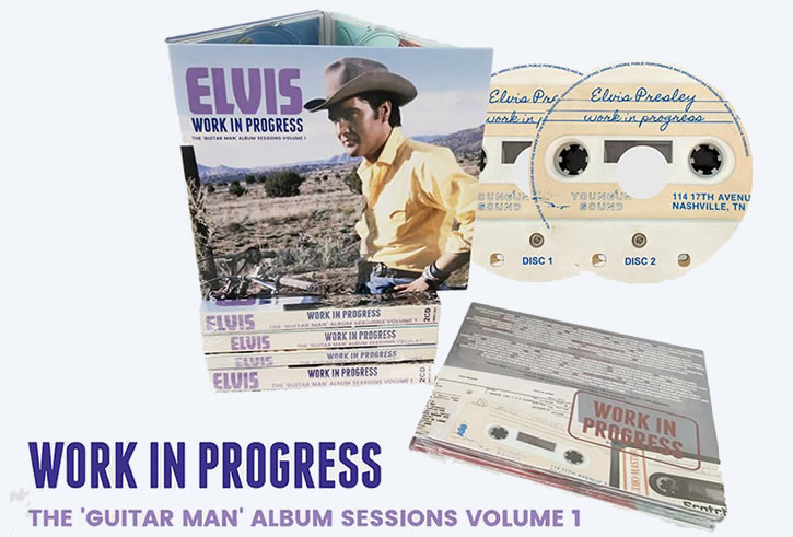 Work In Progress The Guitar Man Album Sessions Volume 1 CD Set Elvis Bootleg