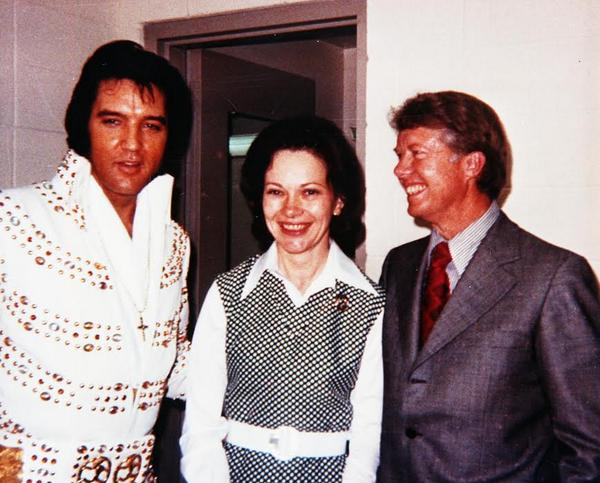 Elvis Jimmy Carter and Wife